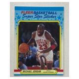 1988 Fleer Michael Jordan Super Star Sticker
