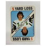 1971 Topps Joe Namath 5 Yard Loss Playing Card #3