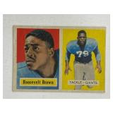 1957 Topps Roosevelt Brown #11