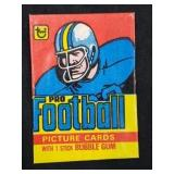 EMPTY 1978 Topps Pro Football Card Pack