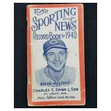 1940 Sporting News Record Book Bucky Walters Cover