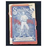 1914 Spalding Official Baseball Record Book