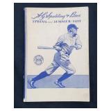 1933 Spalding Spring And Summer Baseball Book