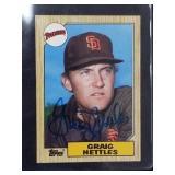 Graig Nettles Signed 1987 Topps Card #205