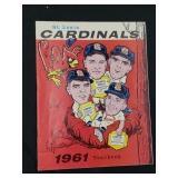 1961 Saint Louis Cardinals Yearbook