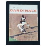 1963 Saint Louis Cardinals Yearbook Stan Musial