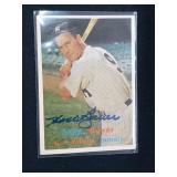 Hank Bauer Signed 1957 Topps Card #240