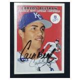 Carlos Beltran Signed 2000 Fleer Tradition #261