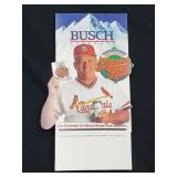 1986 Whitey Herzog Dream Team Busch Standing Sign