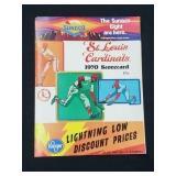 1970 St. Louis Cardinals Score Card