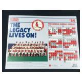 1984 St. Louis Cardinals Baseball Schedule