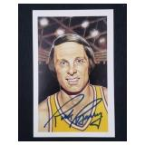 Rick Barry Signed Post Card