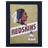1954 Redskins Media Guide