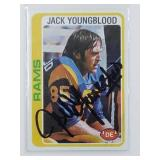 Jack Youngblood Signed 1976 Topps Card #265