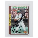 Ron Jaworski Signed 1976 Topps Card #449