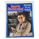 Joe Paterno Signed Sports Illustrated Magazine
