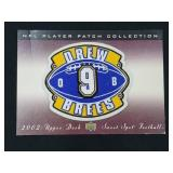 2002 Upper Deck Drew Brees Player Patch & Card