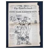 1959 STL Browns Bulging Blockbuster Newspaper
