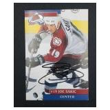 Joe Sakic Signed Photograph With Letter