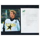 Mike Modano Signed Photograph With Letter