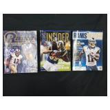 (3) St. Louis Rams Magazines