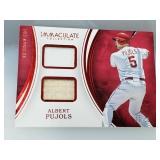 Albert Pujols Game Used Jersey & Bat Card 3/25