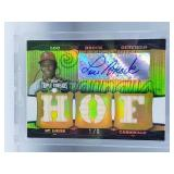AWESOME Lou Brock GOLD Game Used & Signed 1/9