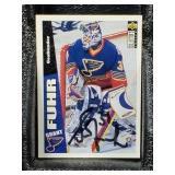 1996 UD CC Grant Fuhr St Louis Blues Signed Card