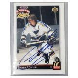 Garry Unger St Louis Blues Signed Card