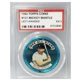 1964 Topps Coins Mickey Mantle #131 PSA EX 5