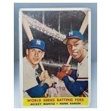 1958 Topps Mickey Mantle & Hank Aaron #418