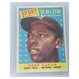 1958 Topps Hank Aaron Sport Magazine All Star #488