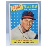 1958 Topps Stan Musial Sport Magazine All Star