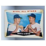 1960 Topps Mickey Mantle & Ken Boyer #160