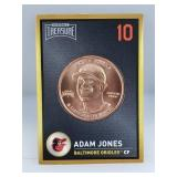 1 oz .999 Copper Adam Jones - Baltimore Orioles