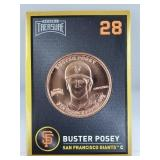 1 oz .999 Copper Buster Posey