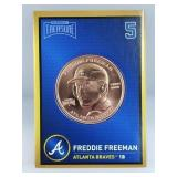 1 oz .999 Copper Freddie Freeman - Atlanta Braves