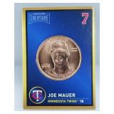 1 oz .999 Copper Joe Mauer - Minnesota Twins