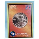 1 oz .999 Copper José Altuve - Houston Astros