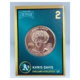 1 oz .999 Copper Khris Davis - Oakland Athletics
