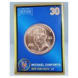 1 oz .999 Copper Michael Conforto - New York Mets