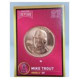 1 oz .999 Copper Mike Trout - Los Angeles Angels