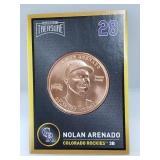 1 oz .999 Copper Nolan Arenado - Colorado Rockies