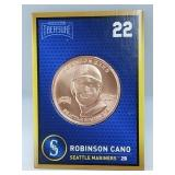 1 oz .999 Copper Robinson Canó - Seattle Mariners