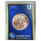 1 oz .999 Copper Salvador Pérez - Royals