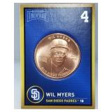 1 oz .999 Copper Wil Myers - San Diego Padres