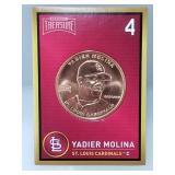 1 oz .999 Copper Yadier Molina - Cardinals