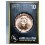 1 oz .999 Copper Yoan Moncada - Chicago White Sox