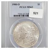 PCGS 1900-O MS63 90% Silver Morgan $1 Dollar