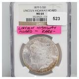 NGC 1879-S MS64 Lincoln Hwy Hoard Morgan $1 Dollar